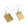 Bezel Handmade Earring Square 16x2mm Brass